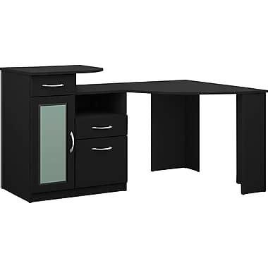 staples black corner desk bush furniture vantage corner desk black hm66915a 03