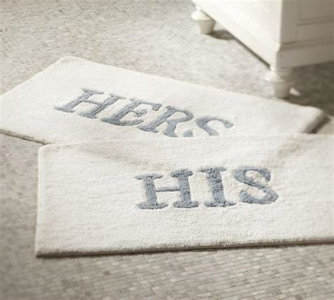 his and hers bathroom rugs his hers bath mats pottery barn