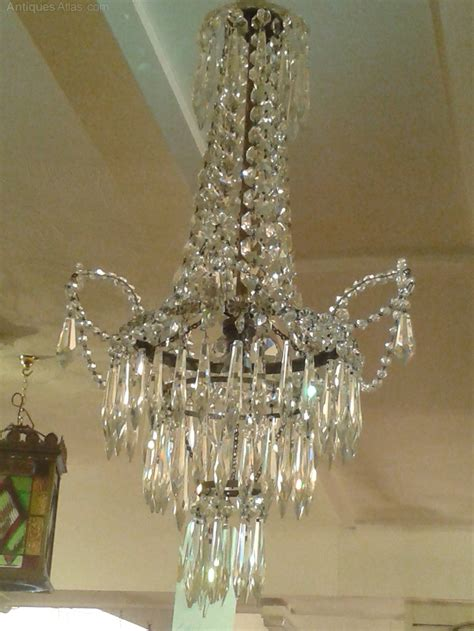 Waterfall Chandelier Antiques Atlas Early 20th Century Tent Waterfall Chandelier