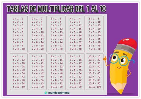 de dibujos multiplicaciones para los ninos a imprimir y colorear aprender las tablas de multiplicar para ni 241 os de primaria