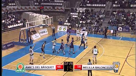 baloncesto melilla reacci 243 n del amics ante melilla baloncesto youtube