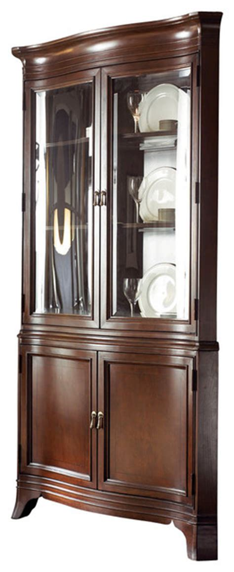 american drew china cabinet american drew cherry grove ng corner china cabinet in mid
