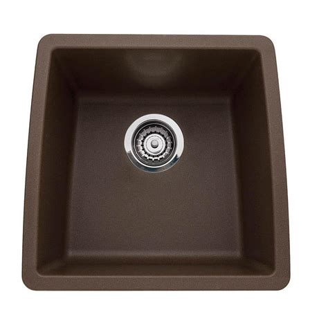 brown kitchen sinks blanco performa undermount composite 17 in single basin