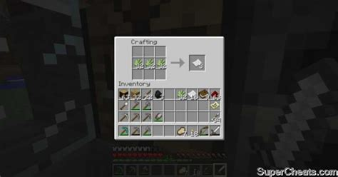 Paper Recipe - player crafted items minecraft
