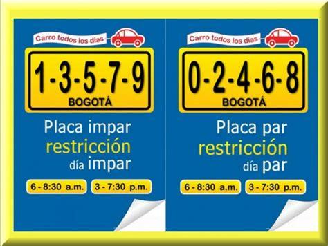 la conejera tiene pico y placa pico y placa bogota horario pico y placa bogota 2013