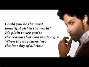 prince the most beautiful girl in the world lyrics youtube