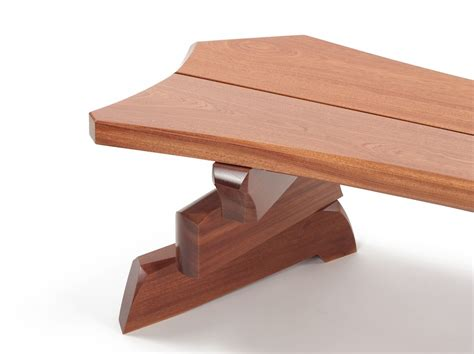 slab bench nico yektai shifting slab bench contemporary wood bench