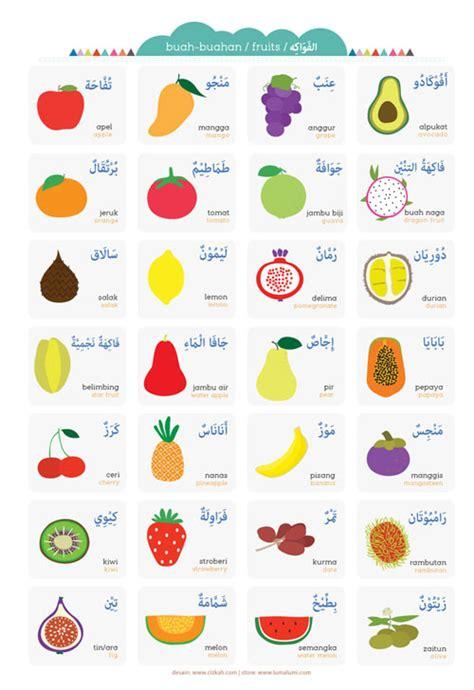 membuat es buah bahasa inggris poster anak nama buah buahan toko muslim title