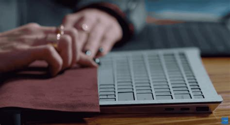 surface laptop 2 usb surface laptop prototype with two usb c ports shows up in promotional microsoft
