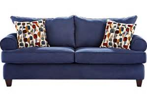 How To Clean Microfiber Upholstery Ansley Park Navy Sofa Sofas