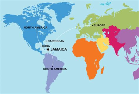 map usa and jamaica places to go