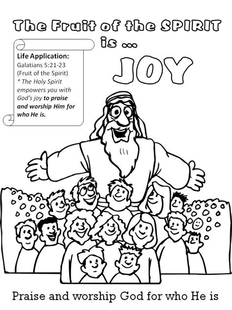 Fruit Of The Spirit Self Coloring Page