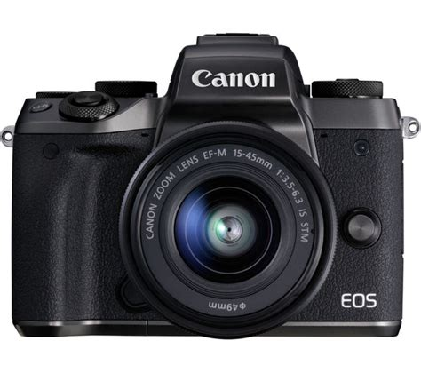 Canon Eos M5 Mirrorless Digital Only 1 canon eos m5 mirrorless with 15 45 mm f 3 5 6 3 lens smart lens adapter black deals