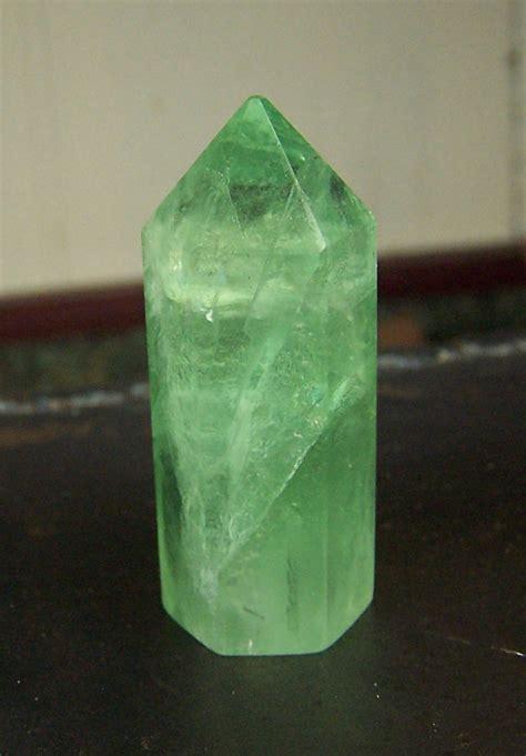 Green Brazil Fluorite green fluorite point prism shape