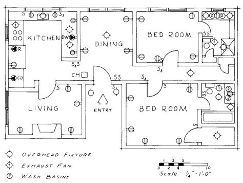 floor plan electrical symbols electrical drawing for architectural plans