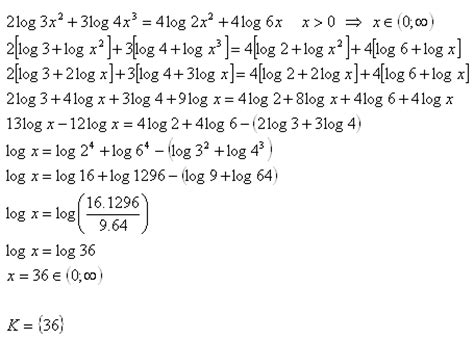 logarithmic equations – examples of problems with solutions