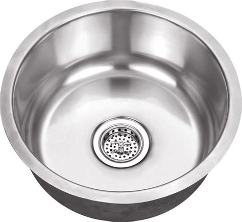 round kitchen sinks schon 18 gauge 17 1 8 inch round bar sink modern bar