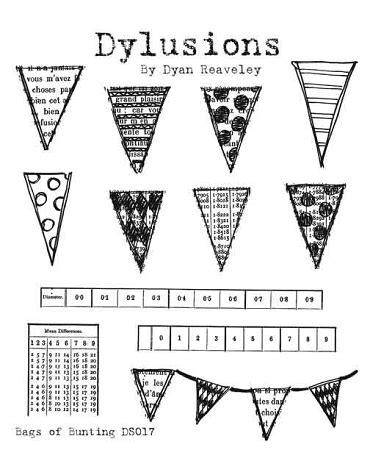 bunting rubber st dylusions rubber st bags of bunting