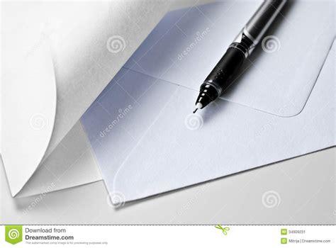 Pen Paper Kiky Envelope paper envelope and pen stock image image 34909231