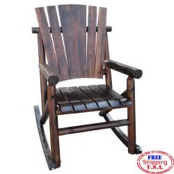 Wooden Patio Chair Wooden Rocking Chair Char Log Porch Patio Bent Wood Rocker