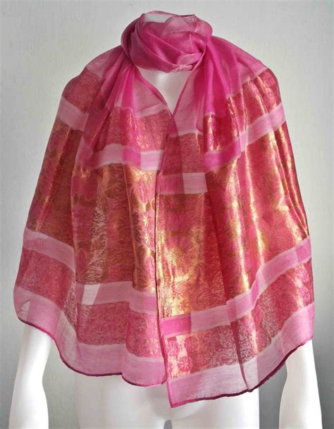 Handmade Silk Scarves - handmade scarf winter scarf thai silk scarf silk by doucefleur