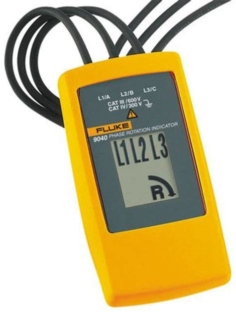Fluke Network 9040 Phase Rotation Indicator fluke 9040 uk fluke 9040 uk phase rotation tester cat