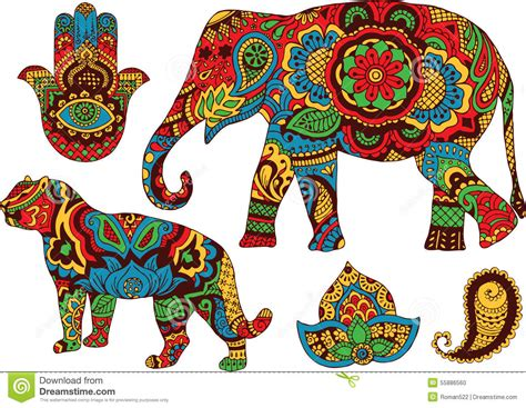 Muster Indisch by Indian Patterns For Design Stock Vector Illustration Of