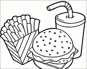 free coloring pages for kids and adults printable fast food coloring pages
