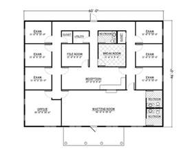 Doctor Office Floor Plan Easy To Build House Plan 735001 Ultimate Home Plans
