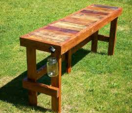 how to an outdoor table pallet wood top bar outdoor bar table pallet wood and
