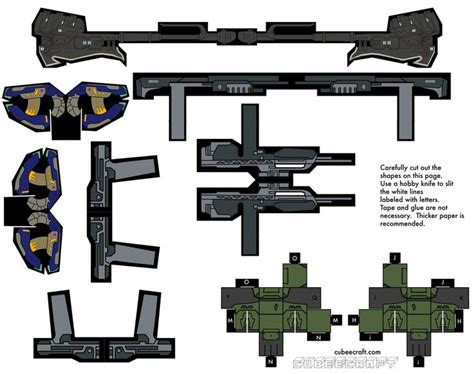 Gun Papercraft - papercraft halo 3 weapons pack for the papercraft halo 3
