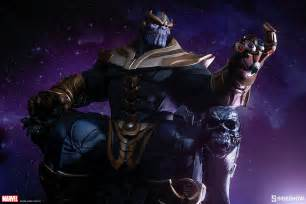Thanos Infinity Marvel Thanos On Throne Maquette By Sideshow Collectibles