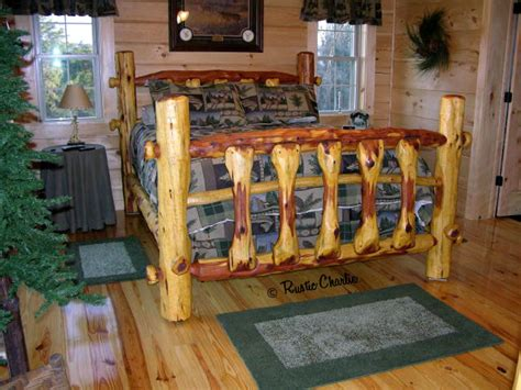 cedar log bed woodworking projects for hunters handmade red cedar furniture how to build a wooden