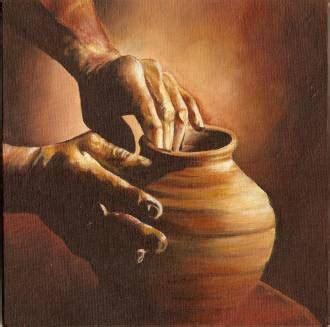 soñar con imagenes religiosas rotas en el vientre oscuro y fresco de una vasija de barro