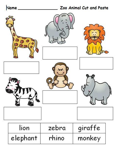 free printable preschool zoo activities free cut and paste worksheet on zoo animal names see this