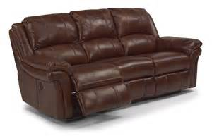 Power Reclining Sofa Leather Flexsteel Living Room Leather Power Reclining Sofa 1351 62p Carolina Furniture Mart