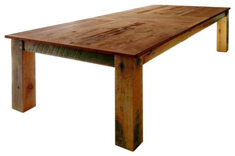 Rustic Outdoor Dining Table Fernwood Designs Rustic Dining Table Reclaimed Barwood Reviews Houzz