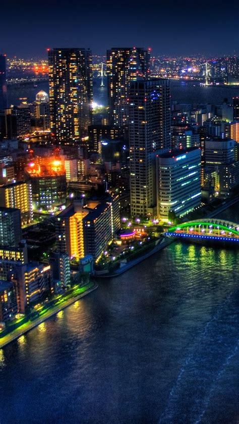wallpaper tokyo bridge night buildings skyscrapers viajes paisajes fotos nocturnas