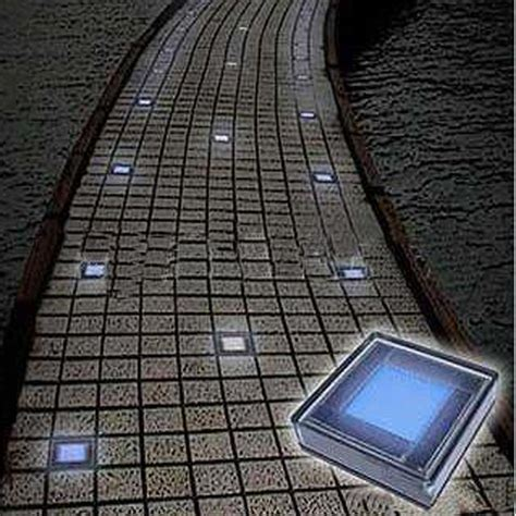 Solar Led Patio Lights Outdoor Solar White Brick Garden Lights With 6 Leds Solar Products Pinterest Solar Bricks