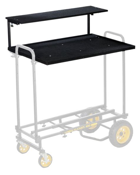 Multi Shelf Cart by Rocknroller Multi Cart Rshm2 2 Tier Multimedia Shelf For