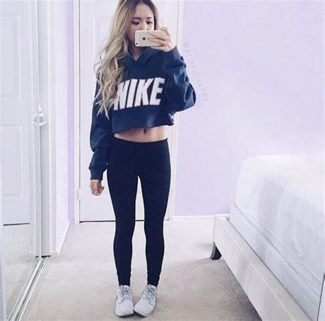 Crop Hoodie Jumper Jaket Nevy sweater nike shoes nike sweater cropped sweater