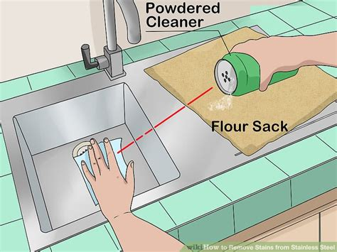 how to remove stains from stainless steel sink 3 ways to remove stains from stainless steel wikihow