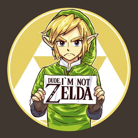Meme Link - dude i m not zelda shirtigo