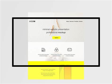 Free Minimal Flat Website Presentation Mockup Freebiedesign Net Website Presentation Psd