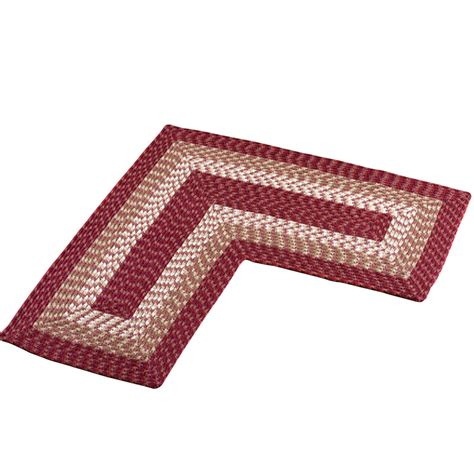 Corner Kitchen Rug L Shaped Corner Kitchen Laundry Bath Braided Rug By Collections Etc Ebay