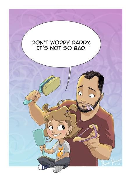 pimpandhost toon single dad shows what it s like raising young daughter in