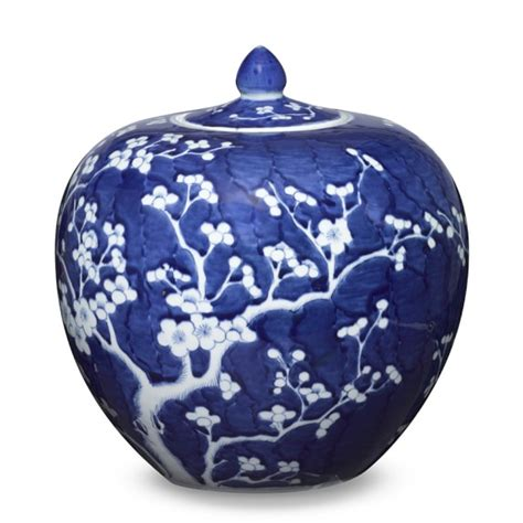 blue ginger jars blue white ginger jar with lid melon williams sonoma