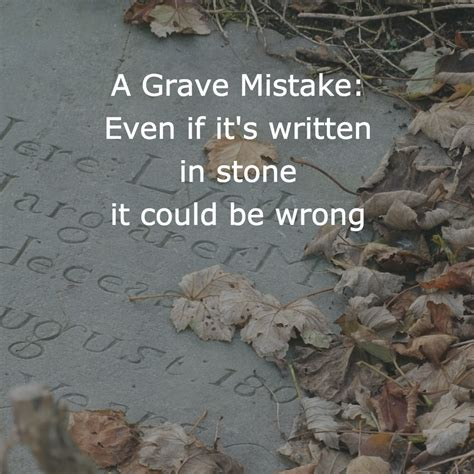 even at the grave books olive tree genealogy a grave mistake even if it s