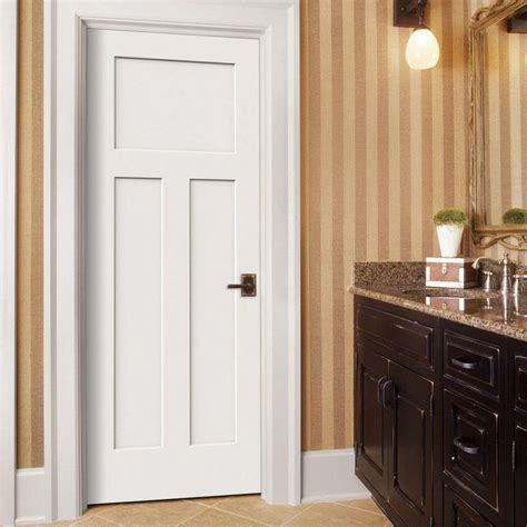 3 Panel Interior Doors Home Depot Jeld Wen Door Craftsman Smooth 3 Panel Solid Primed Molded Inte
