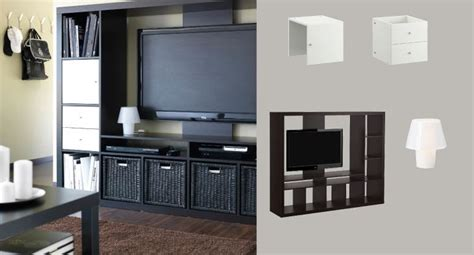 black storage unit living room expedit black brown tv storage unit with white door and drawer inserts family room